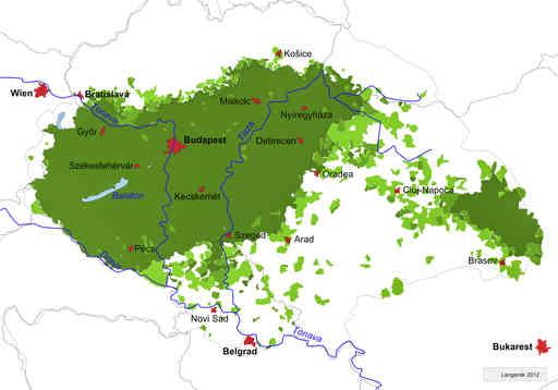 Unkari Vuoret Kartta Unkarin Kartta Vuoret Ita Eurooppa Eurooppa